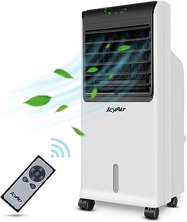 Aire Acondicionado Móvil, Enfriador de Aire Portátil con Cristal de Hielo y Control Remoto, Climatizador Evaporativo Silencioso de Bajo Consumo de Energía con Humidificación para Hogar y OficinayAir: Amazon.es: Hogar
