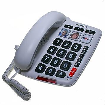 Daewoo DAE30DTC760 - Teléfono Fijo con Teclas Grandes: Amazon.es: Electrónica