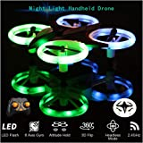 Mini Drone with Dazzle LED Night Light RC Quadcopter Multicolor Light 2.4GHz Remote Control Micro Drone 3 Speed Switch 3D Flip Altitude Hold 6-axis Gyro Headless Mode Kid Toy(Mini Drone)