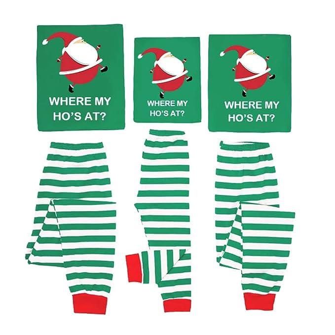 Hibote Pijamas de Navidad Familiares Combinados Niños Niños Conjuntos de Pijamas de Navidad para Adultos Pijama
