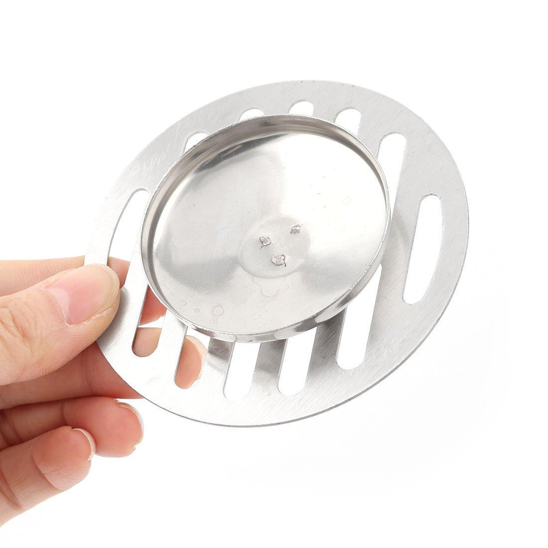 DealMux acero inoxidable Inicio Ronda lavabo agujeros en forma de tapa del filtro de desag/üe de ducha Suelo