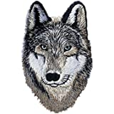 riverbyland iron on patches embroidered wolf pack of 3