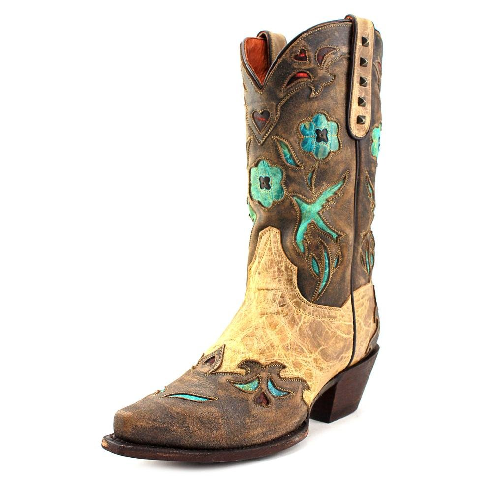 Dan Post Womens Tan Vintage Bluebird Leather Cowboy Boots 12in 9 M