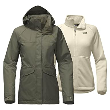 5760fd51e24b Image Unavailable. Image not available for. Color  The North Face W  Merriwood Triclimate Winter Jacket New Taupe Green Womens M