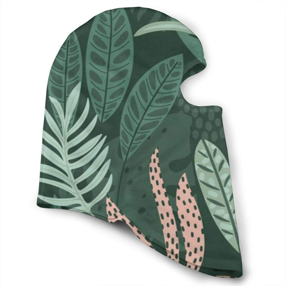 CAClifestyle Tropical Leaves Pattern Unisex Windproof Balaclavas Full Face Mask Hood
