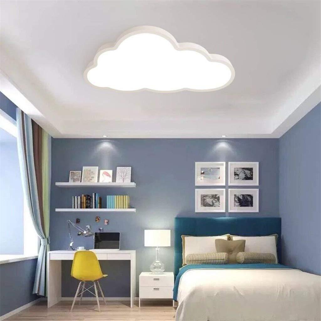 Color : Stufenloses Dimm ALOUS Deckenleuchte LED ultrad/ünne 5 cm Kreative Wolken Deckenlampe Kinderzimmer Deckenleuchte Jungen Und M/ädchen Schlafzimmer Lampe Einfache Cartoon Romantische Deckenlampe