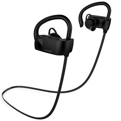 Aukey 耳掛け式 Bluetoothワイヤレスイヤホン