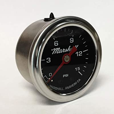 Marshall Instruments LB00015 Liquid Filled Fuel Pressure Gauge: Automotive