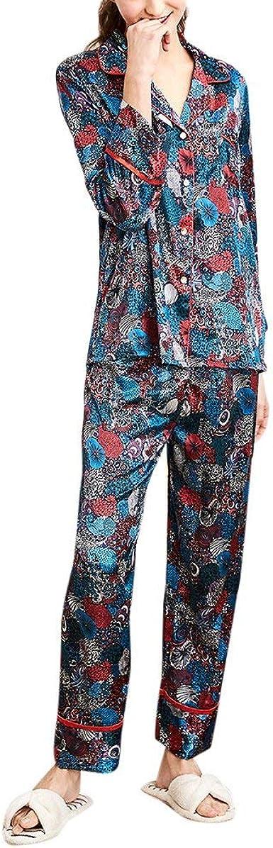 Mujer Pijamas Mujer Pyjama Set Pants Pedazos Tops 2 Verano ...