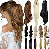 """3-5 Days delivery 18"""" 21"""" Straight Curly Synthetic Clip In Claw Ponytail Hair extension Synthetic Hairpiece 150g With a Jaw/Claw Clip"""