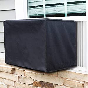 Knemksplanet Window Air Conditioner Cover, AC Defender - Winter AC Window Unit Cover (25L x 21W x17H)