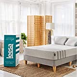 "Leesa Luxury Hybrid 11"" Mattress in a Box CertiPUR-US Certified 3 Layer Spring/Memory Foam Construction, Twin, White & Gray"