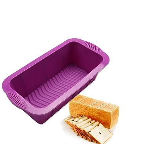 HUVE Molde rectangular silicona para Pan molde para tartas antiadherente para hornear molde para horno-