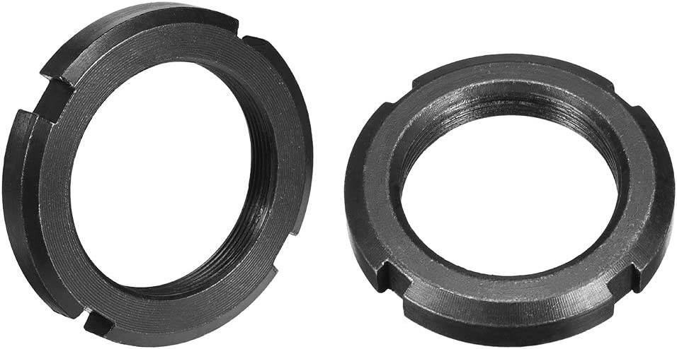 2 Pcs uxcell M56x2.0mm Retaining Four-Slot Slotted Round Nuts