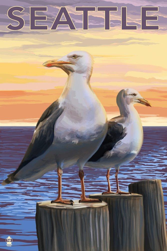 Seattle Sea Gulls 36 x 54 Giclee Print LANT-31655-36x54 36 x 54 Giclee Print  B017EA0FJY