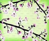 1/2 Sheet - Japanese Cherry Blossum Birthday - Edible Cake/Cupcake Topper!!!