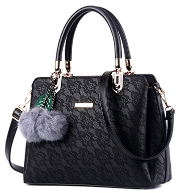 374e4e54308e Women Fur Handbags Printing Women PU Leather Shoulder Messenger Bags Sweet Tote  Bag Bolsa black