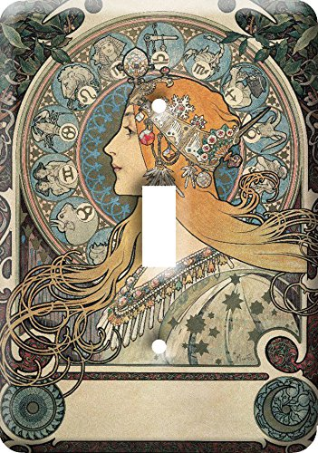 Art Nouveau Metal Switch Cover Plate #7