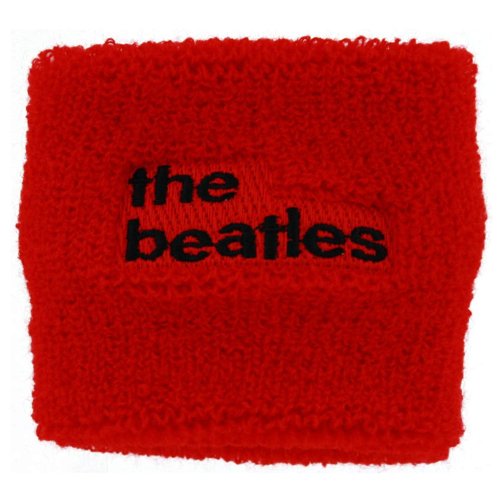 Red The Beatles 62 Logo Lowercase Terry Cloth Wristband