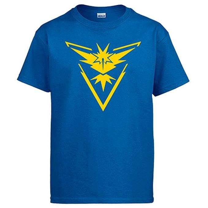 Camiseta Pokemon Go Equipo Instinto Instinct Amarillo: Amazon.es: Ropa y accesorios