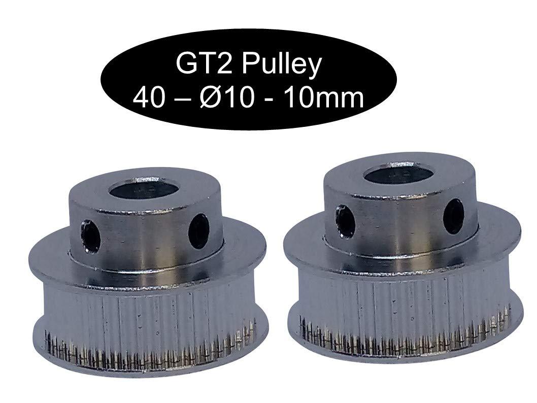 18 o 20 denti puleggia a seconda della larghezza a scelta 16 GT2 12Z /Ø5mm 2 X GT2 con 10 mm larghezza 12 1