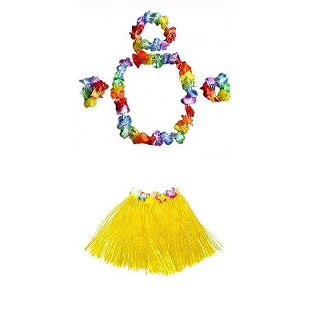 fenteer 5 piezas adulto niño disfraz Juego de hawaiana flores ...