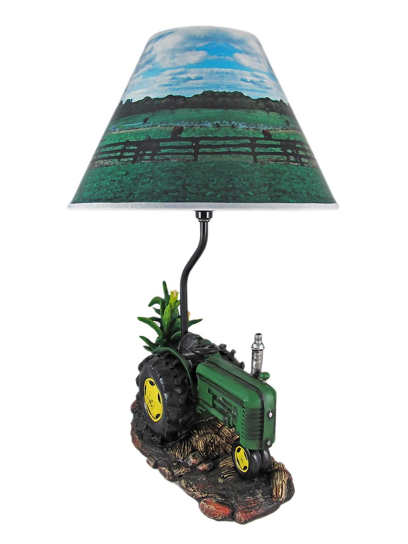Resin table lamps green farm tractor 19 inch table lamp country 12 x resin table lamps green farm tractor 19 inch table lamp country 12 x 19 x 12 inches green john deere childrens lamp amazon aloadofball
