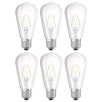 Lot Blanc 25w À Forme Ampoules Edison Culot De 2700k Chaud E27 6 Filament Led Osram 2wéquivalent tBshrCxdQo