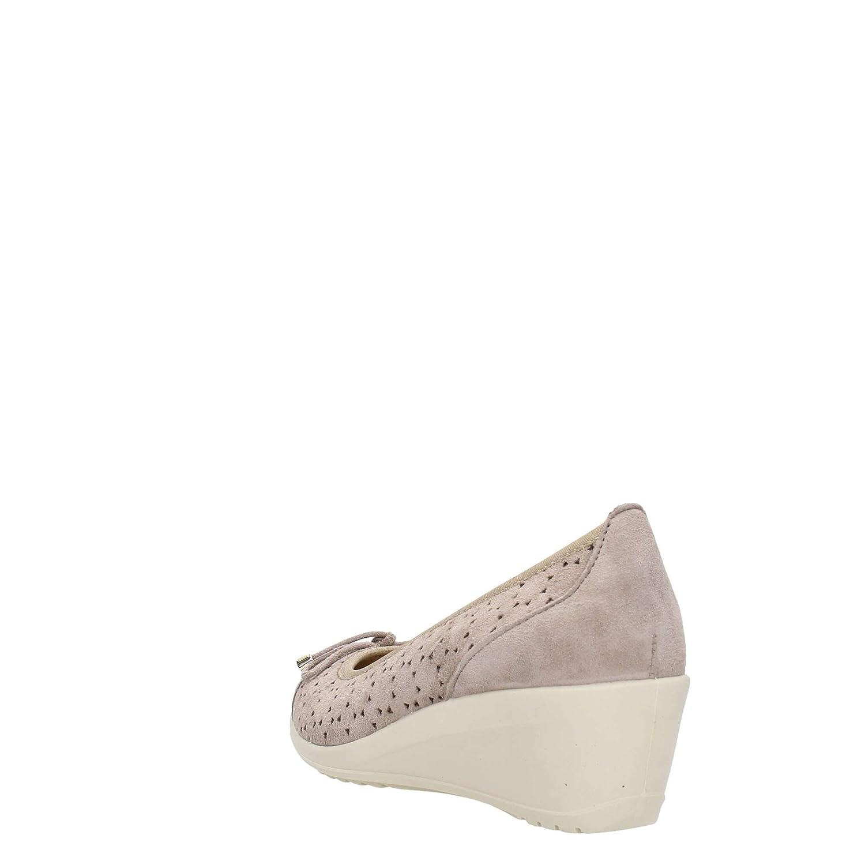 7938 TAUPE Scarpa donna decolletè zeppa Enval soft pelle made in Italy   Amazon.it  Scarpe e borse 68de5032934