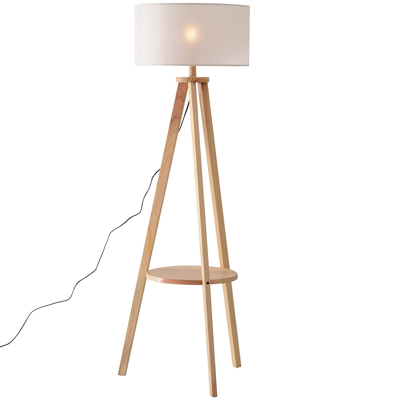 HOMCOM Free Standing Tripod Floor Lamp Bedside Light Reading Light W