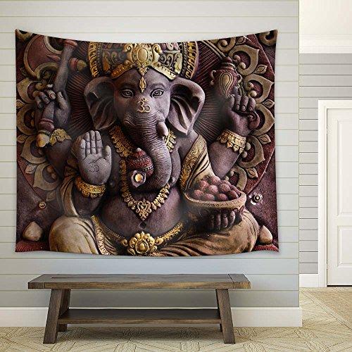 Sculpture of Gannesa Hindu God on The Orange Wall