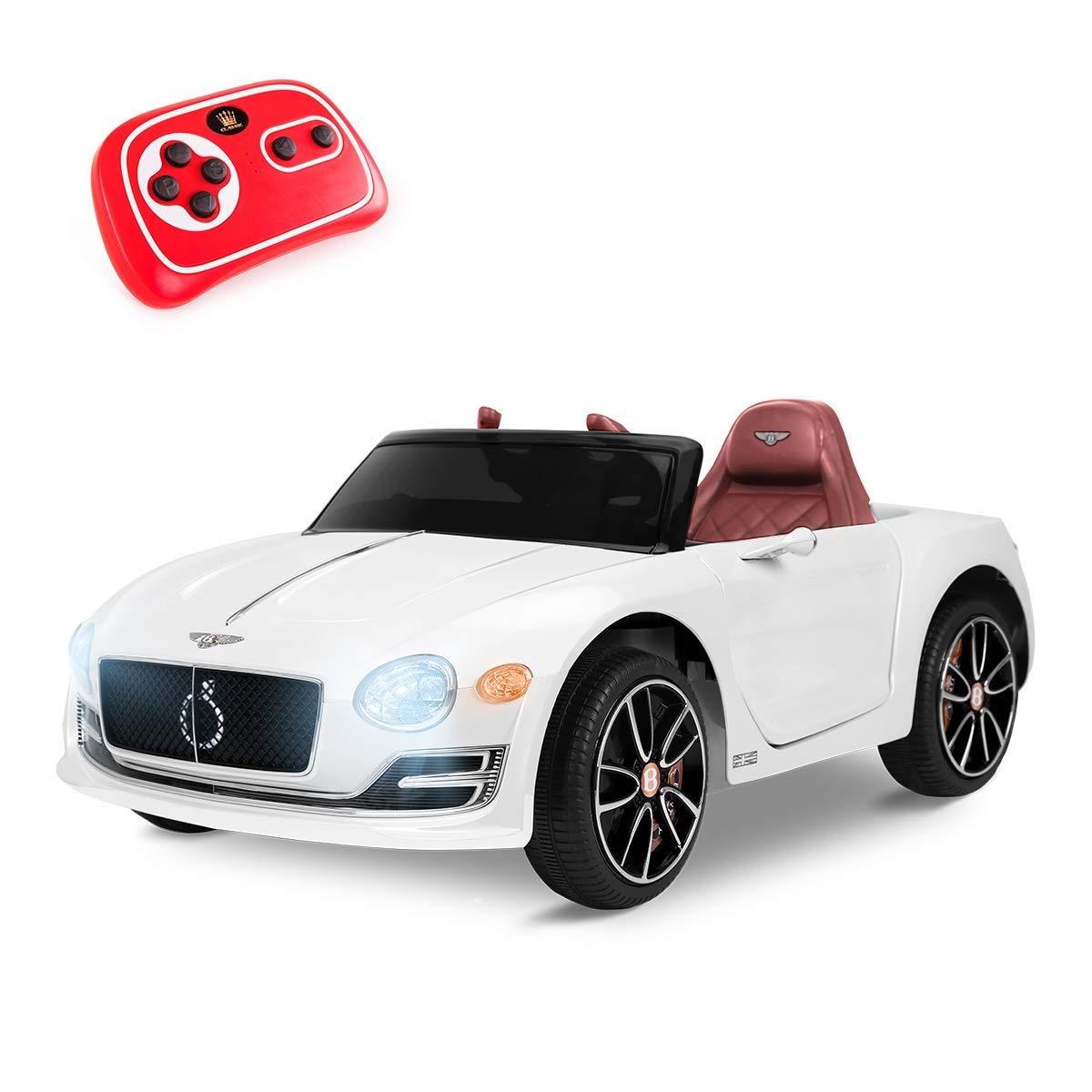 Playkin Coche Electrico Niños Bentley, Color Blanco