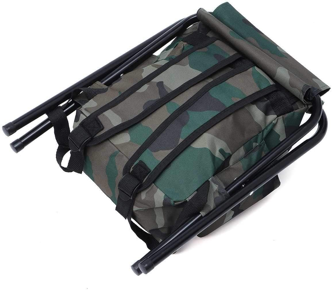 KKAAMYND Fishing Seat,Fishing Chair Stool Camping Backpack Oudoor Travel Shoulder Sport Tackle Bag Fishing Accessories 42X32cm Portable Foldable (Color : 1) 1