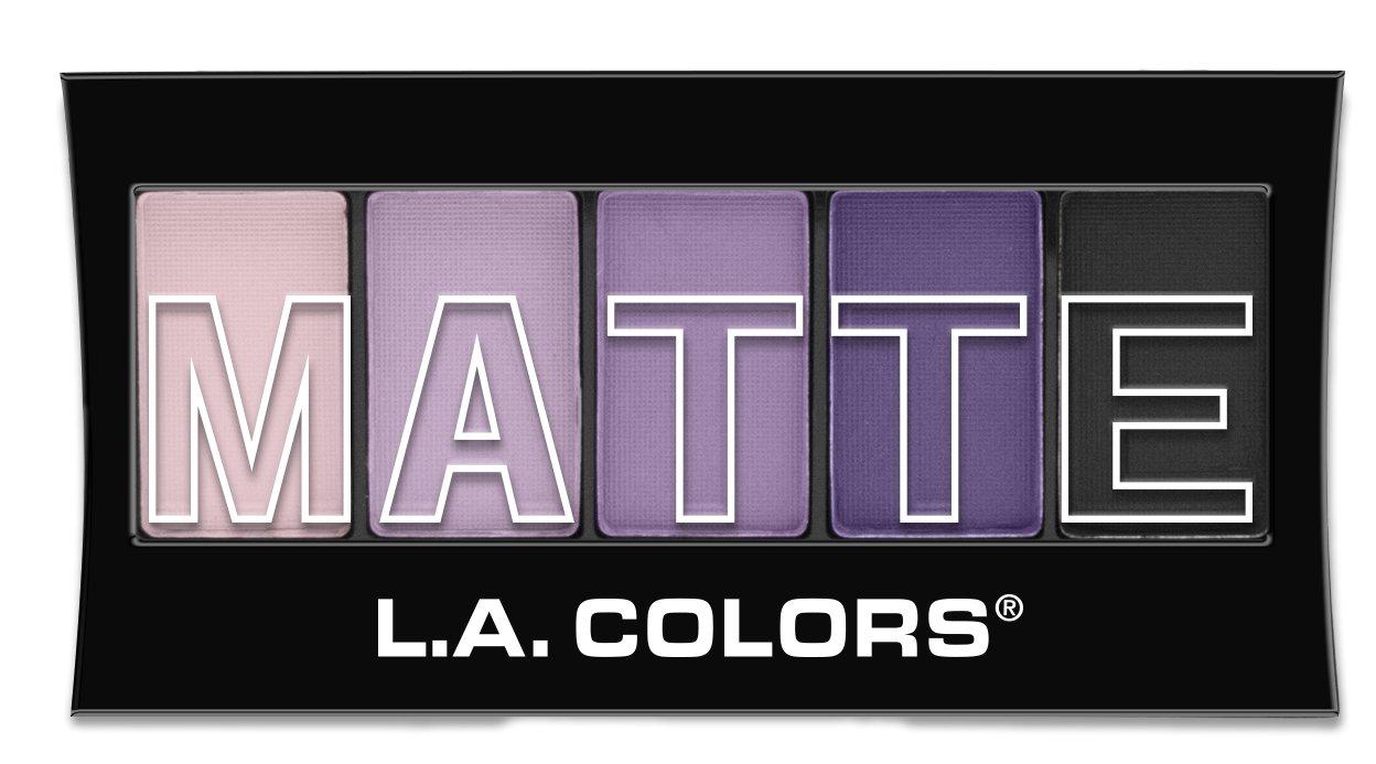 L.A. Colors 5 Color Matte Eyeshadow, Purple Cashmere, 0.08 Oz L.A. Colors Cosmetics CEM473