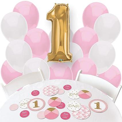 Big Dot Of Happiness Girl 1st Birthday
