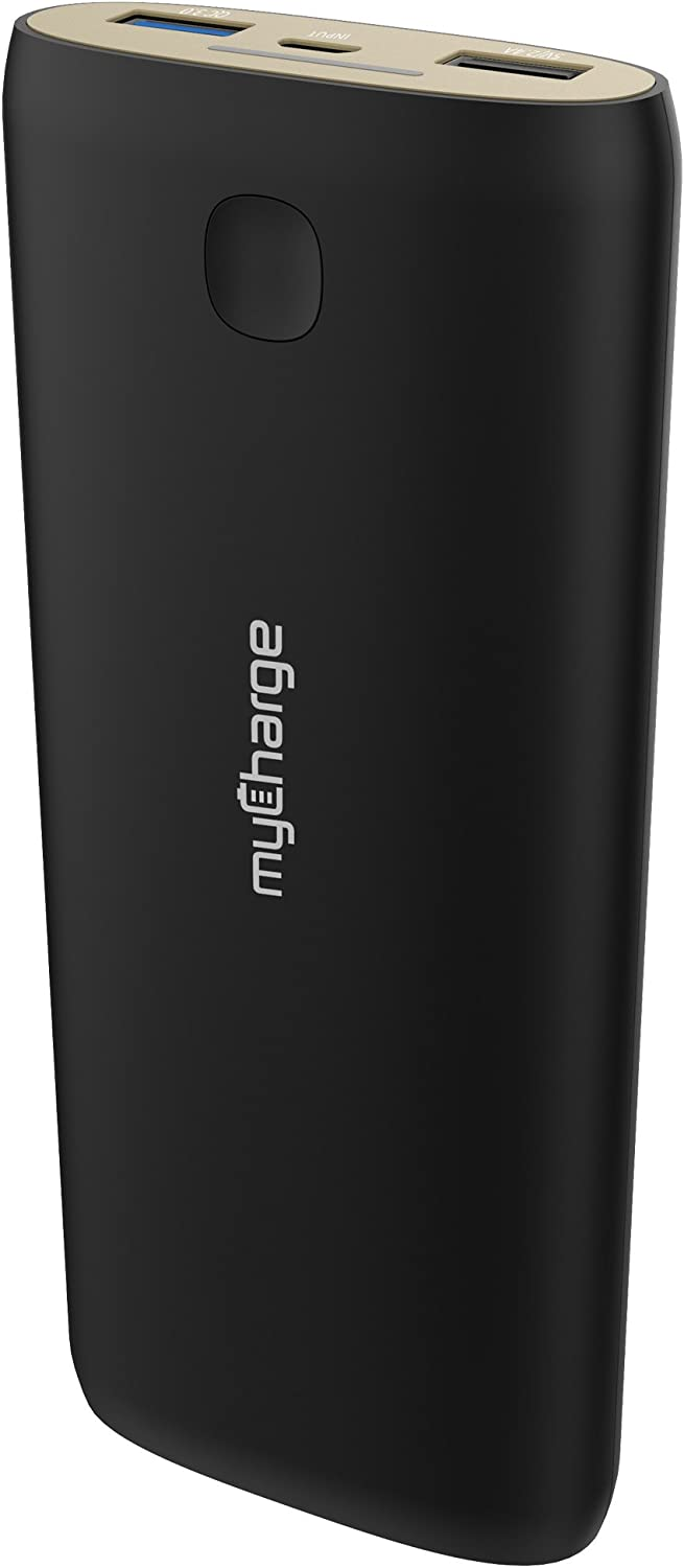 myCharge MegaPower 20100mAh Portable Charger External Battery Pack with Dual USB Ports Including Qualcomm Quick Charge 3.0 for for Smartphone, Tablet and USB Devices (iPhone, iPad, Samsung Galaxy)