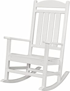 Hanover Outdoor Furniture HVR100WH All Weather Pineapple Cay Porch Rocker, White