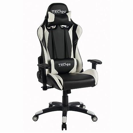 Techni deporte blanco ts4600 juegos/silla de oficina
