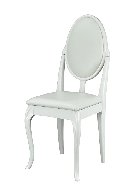 White Dressing Table/Bedroom Chair with Cabriole Legs and White ...