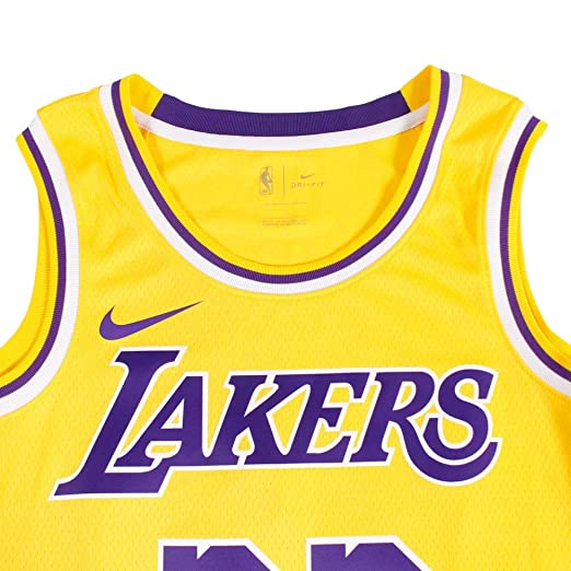 0838c54dca4 Amazon.com  Nike Mens Los Angeles Lakers Lebron James 2018-19 NBA Swingman Gold  Jersey 100% Authentic  Clothing