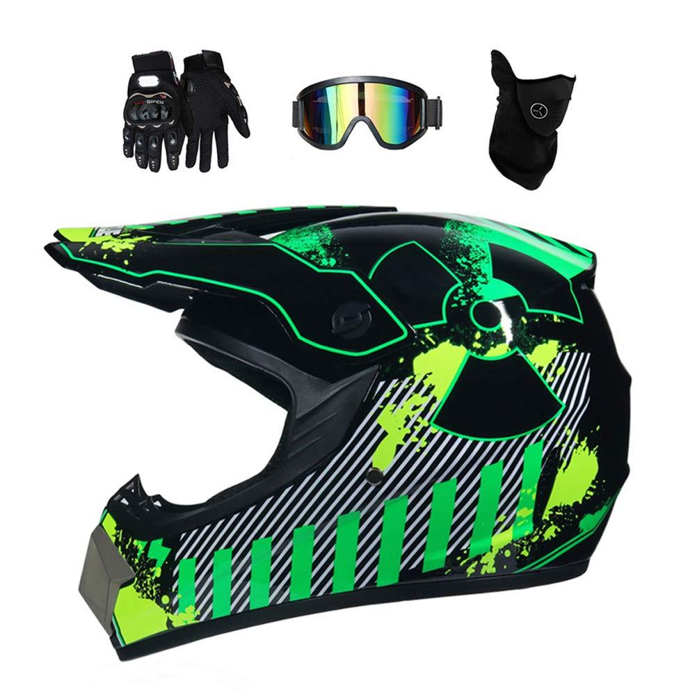 motocross helm mit brille adult off road motorradhelm crosshelm set handschuhe maske unisex. Black Bedroom Furniture Sets. Home Design Ideas