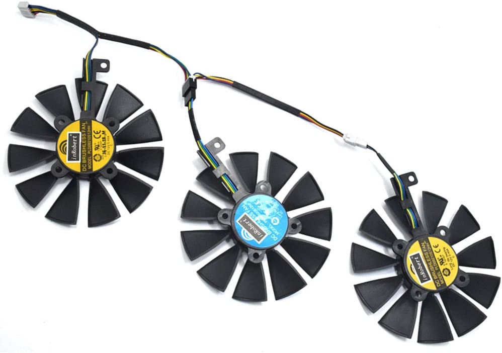 inRobert PLD09210S12HH Video Card Cooling Fan For ASUS STRIX R9 390 X 390 RX480 RX580 GTX 980Ti 1060 1070 1080 Graphic Card (Fan-3pcs)