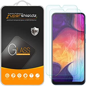 (2 Pack) Supershieldz Designed for Samsung Galaxy A50 Tempered Glass Screen Protector, Anti Scratch, Bubble Free