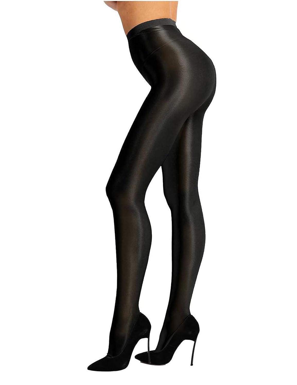 808f2bb986f YiZYiF Women Sheer Pantyhose High Waist Tights Shiny Silk Stockings Socks  Hosiery Black One Size  Amazon.co.uk  Clothing