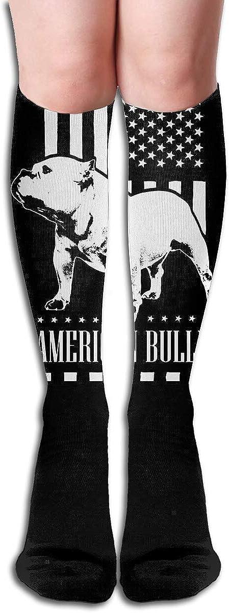 American Flag Bully Womens Knee High Socks Winter Warm Boot Socks Tube Stockings