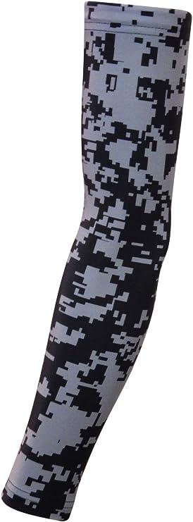 Navy Blue Digital Camo, Medium Sports Farm New Moisture Wicking Compression Arm Sleeve
