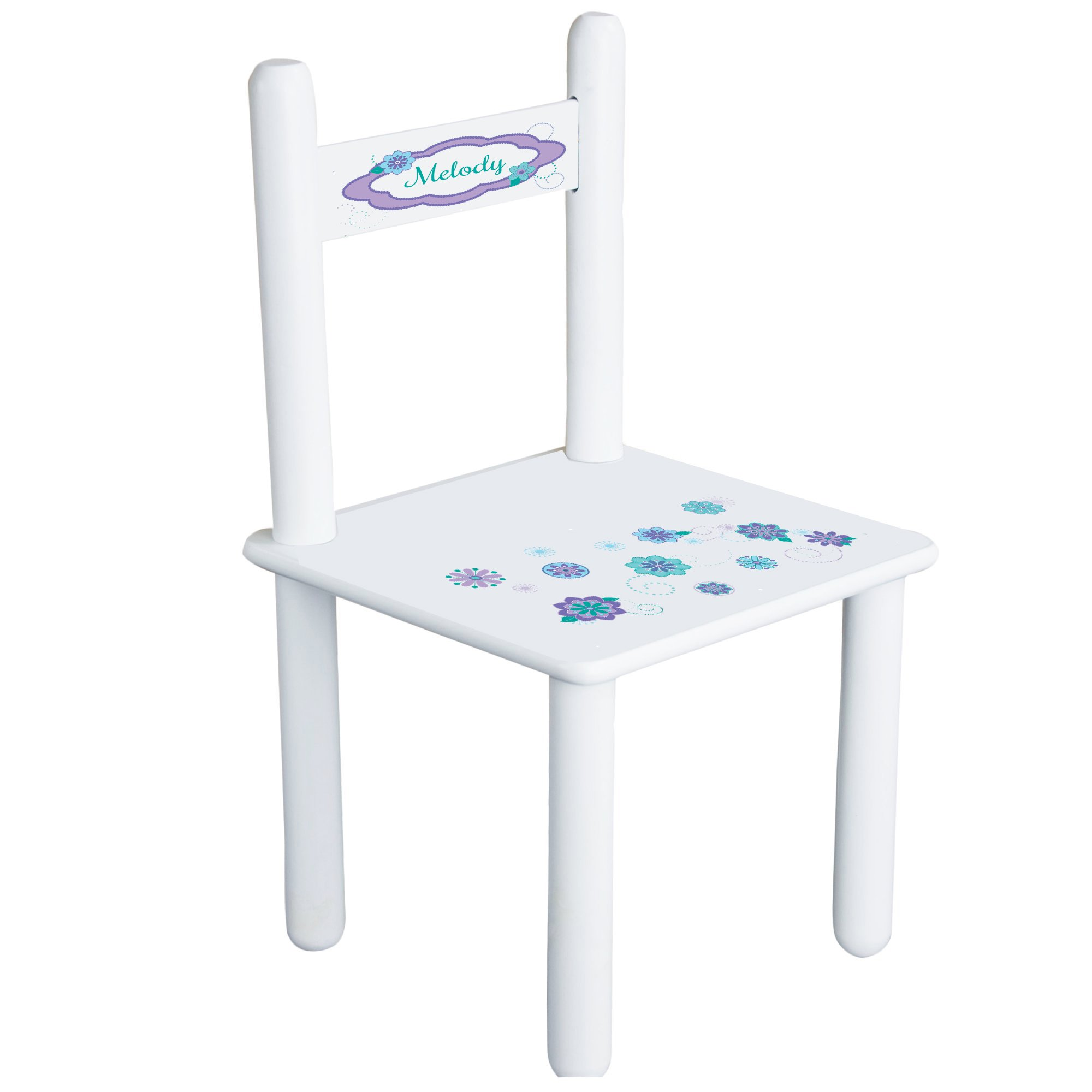 Personalized Florascope Child's Chair - white