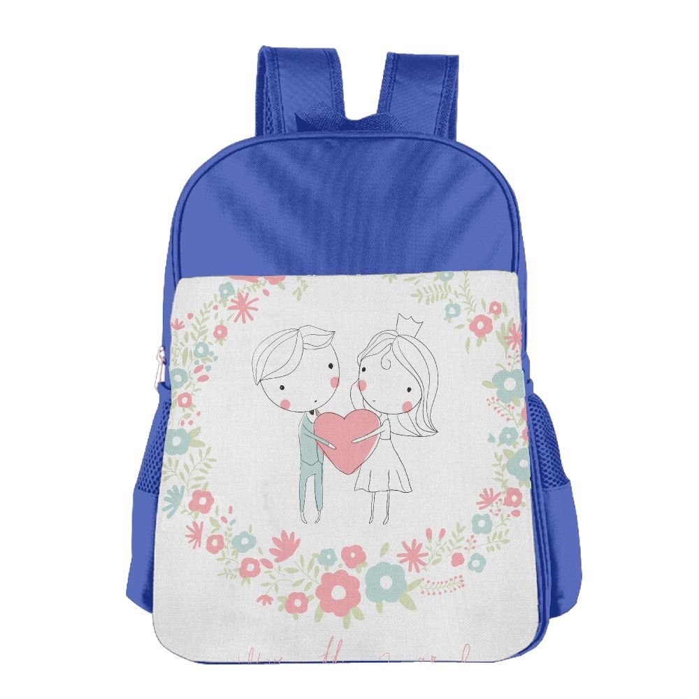 Wedding Drawing Sweet Couple Kids Backpack For Boys Girls Fit School Backpack