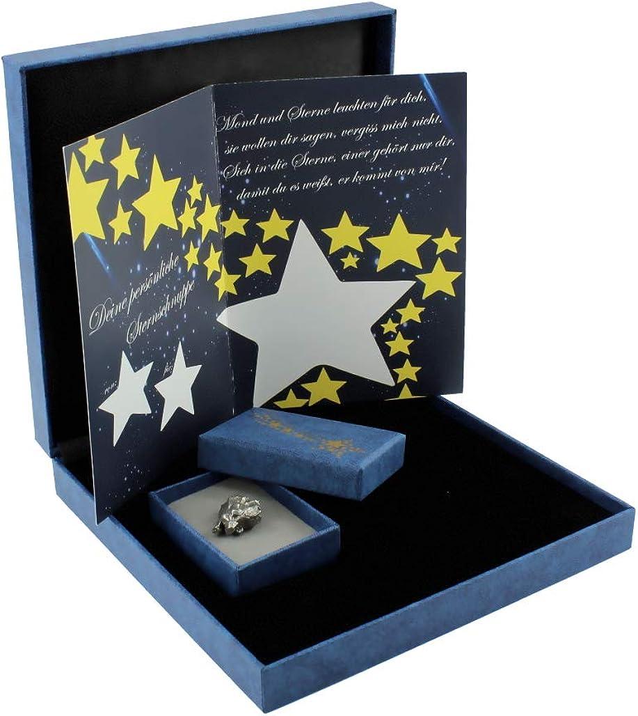 Budawi/® /Étoile m/ét/éorites avec certificat dauthenticit/é dans un coffret cadeau pierre de poche