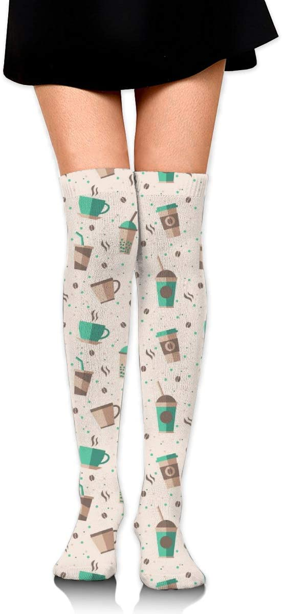 Kjaoi Girl Skirt Socks Uniform Coffee Tea Time Women Tube Socks Compression Socks